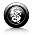 web icon with white dragon vector image vector image