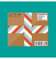 Delivery postal cardboard box vector image