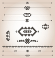 geometrical designs for documents vector image vector image