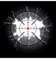 Crosshair after shooting vector image
