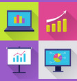 icons set with finance diagram vector image vector image