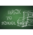 Education back to school bus vector image