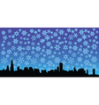 City skyline with stars vector image