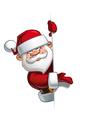 Happy Santa Empty Label Presenting vector image vector image