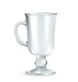 Traditional mug for Irish coffee empty iso vector image
