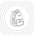 Black and white backpack hand drawn vector image