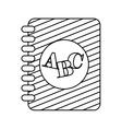 Alphabet Book isolated icon design vector image
