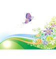 Butterfly Floral vector image