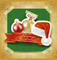 christmas background with paper elements vector image