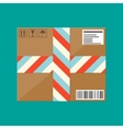 Delivery postal cardboard box vector image