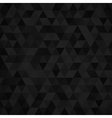 Geometric mosaic pattern from black triangle vector image