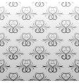 gray antique seamless vine wallpaper vector image
