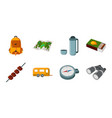 rest in the camping icons in set collection for vector image