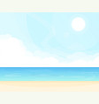 sea and clouds background vector image