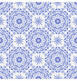 Vintage white-and-blue seamless pattern vector image vector image