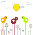 Three chickens vector image