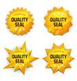 cartoon gold premium quality seals vector image