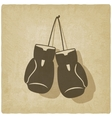 sport boxing old background vector image