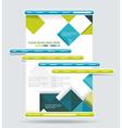 Web design navigation set vector image
