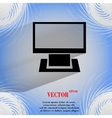 Computer Flat modern web button on a flat vector image