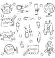 Element school doodle set vector image