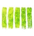 Green shining glitter polish samples isolated on vector image