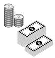 money isolate on white vector image