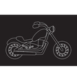 Motorcycle Isolated mono line vector image