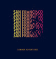 san francisco summer graphic with palms t-shirt vector image