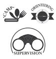 set of tourism logo vector image