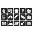 Silhouette Dairy Products vector image