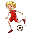 An energetic soccer player vector image