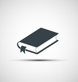 icon of the book vector image