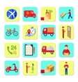 Delivery Icon Flat Set vector image