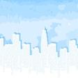 city contour against the blue sky vector image