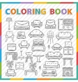 coloring bookHome interior vector image