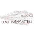 Employee word cloud concept vector image