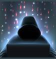 hacker computer realistic composition vector image