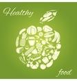 Healthy food apple vector image