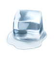 Ice cube isolated on white background vector image