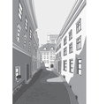 Street of city vector image