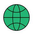 the globe the black color icon vector image