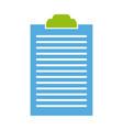 clipboard document list paper work vector image