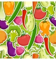 Seamless funny vegetable background vector image