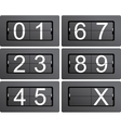 Numeric series 0 to 9 from mechanical scoreboard vector image