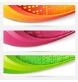 Website headers colorful banners set vector image vector image