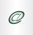 e mail internet stylized symbol vector image