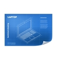 Technical with laptop drawing vector image
