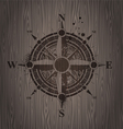 compass rose painting on a wooden wall vector image vector image