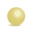 golden golf ball vector image